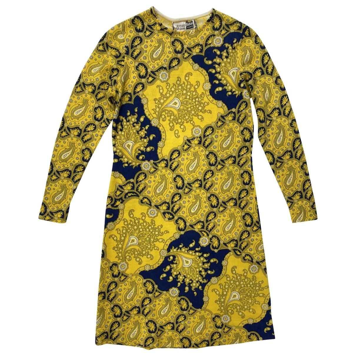 Leonard \N Kleid in  Gelb Wolle