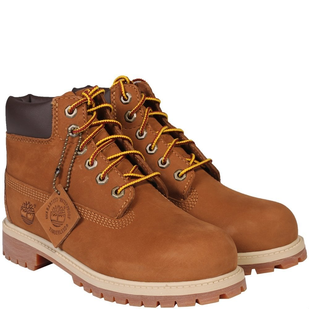 Timberland Kids Premium 6 Inch Boots Brown  Colour: BROWN, Size: UK 3.5