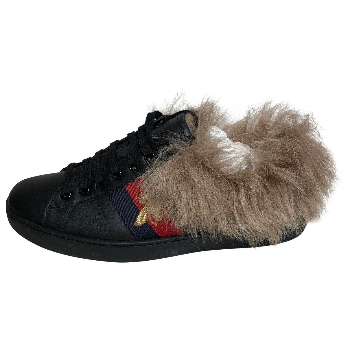 Gucci Ace Black Leather Trainers for Men 40 EU