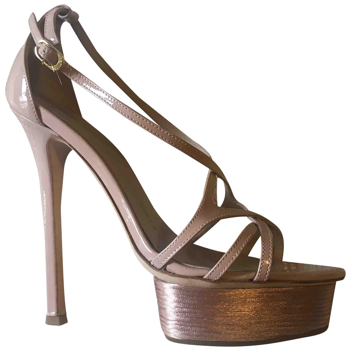 Le Silla \N Sandalen in  Rosa Lackleder