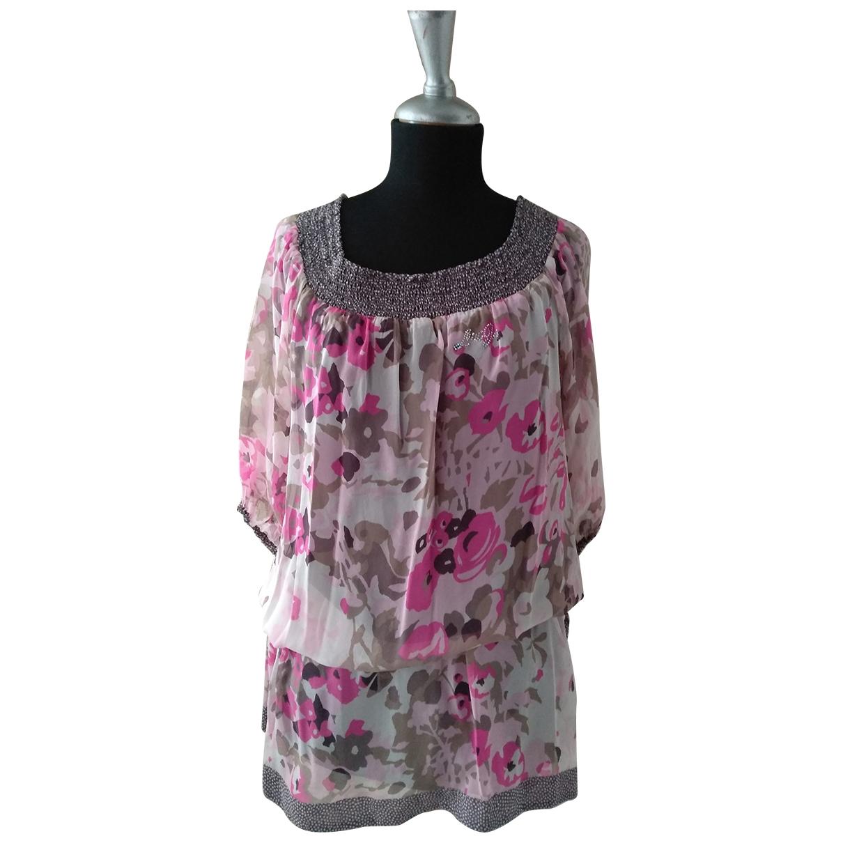 Liu.jo - Top   pour femme en soie - multicolore