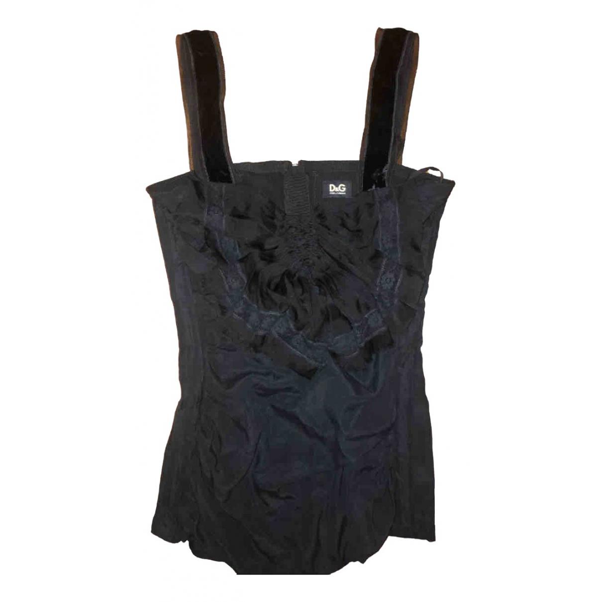 D&g N Black Silk  top for Women 38 IT
