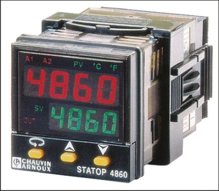 Pyro Controle STATOP 4860 PID Temperature Controller, 1 Output, 90  260 V ac Supply Voltage