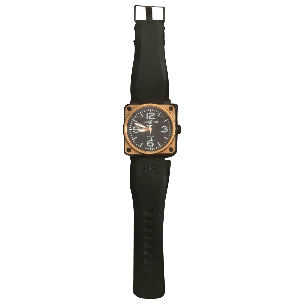 Bell & Ross BR01-92 Black Pink gold watch for Men \N
