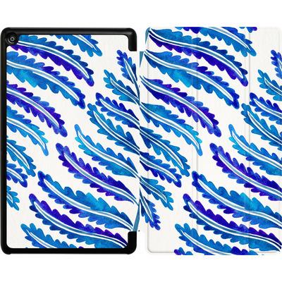Amazon Fire HD 8 (2017) Tablet Smart Case - Fern Leaf Navy von Cat Coquillette