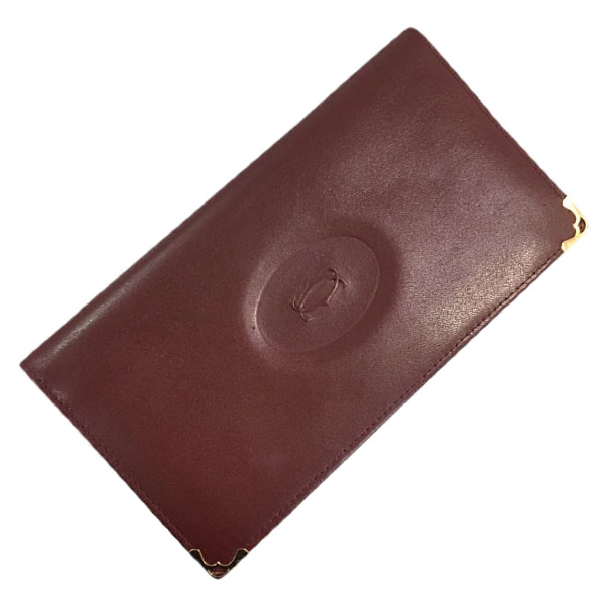 Cartier - Petite maroquinerie   pour homme en cuir - bordeaux