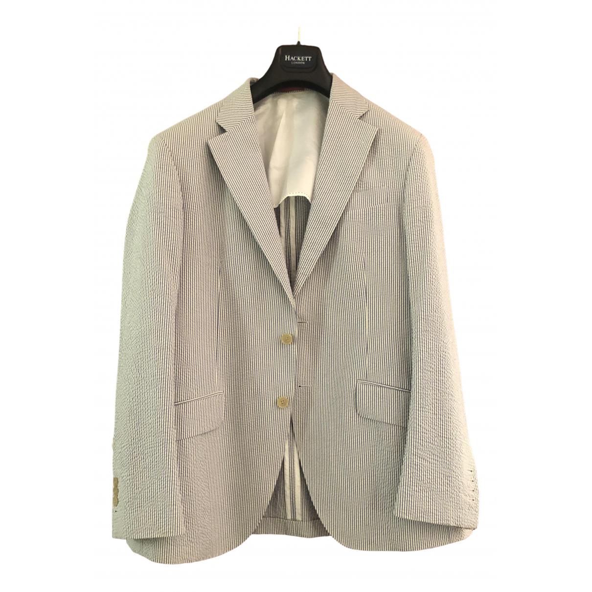 Hackett London - Costumes   pour homme en coton - bleu