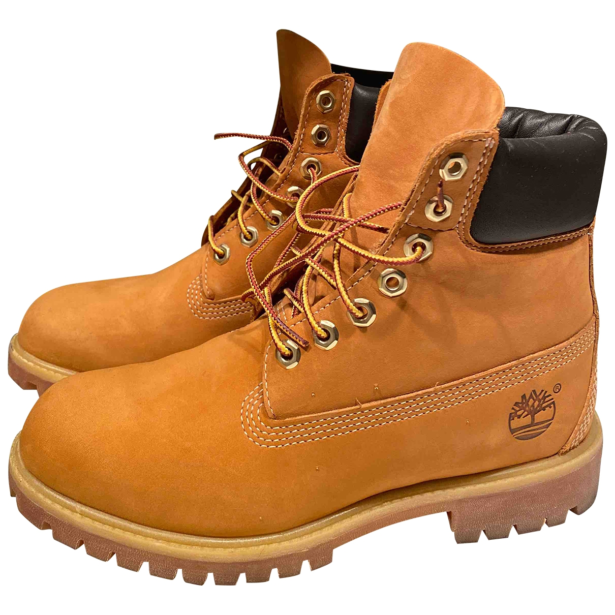 Timberland \N Camel Leather Boots for Men 7 US