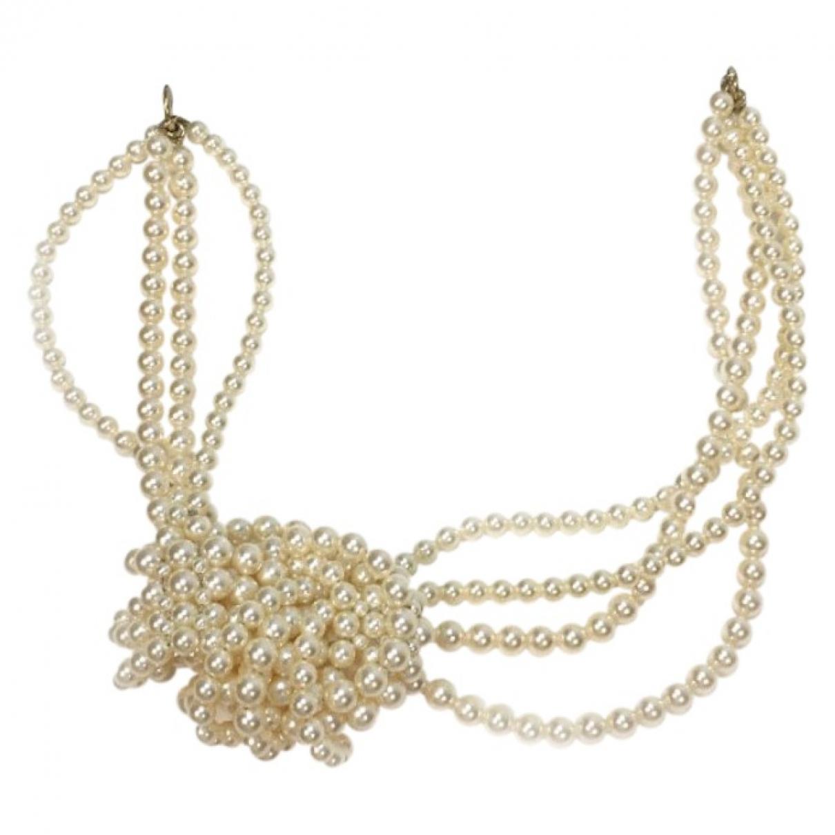 Chanel \N White Pearl Hair accessories for Women \N