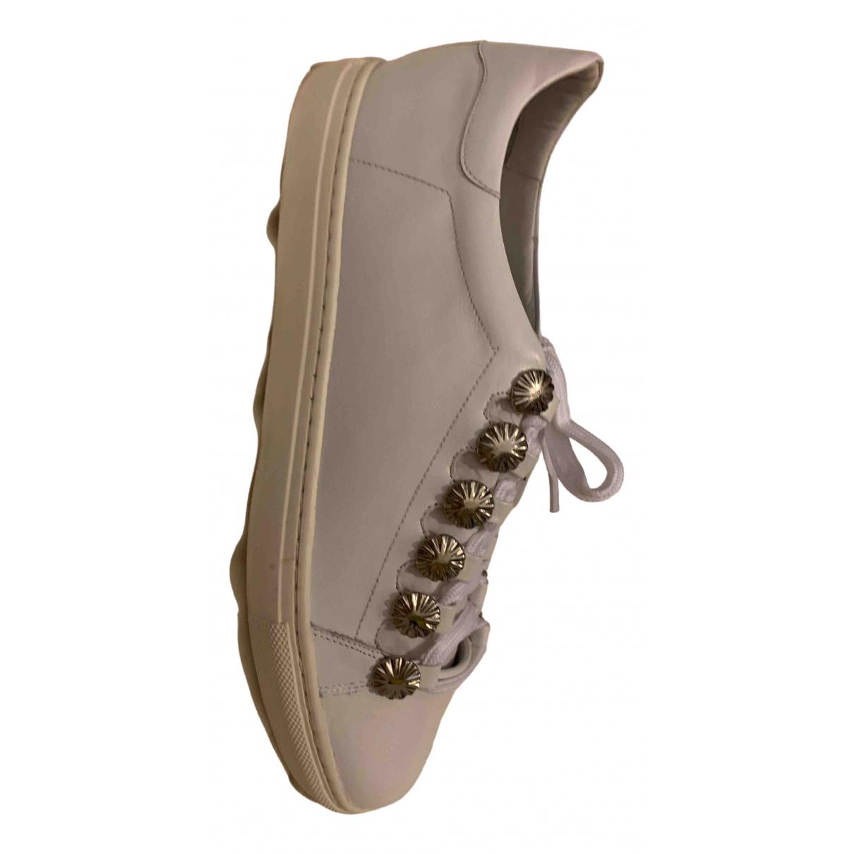 Toga Pulla \N Sneakers in  Weiss Leder