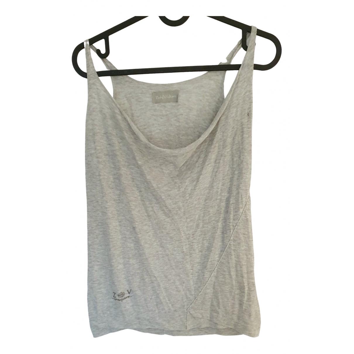 Zadig & Voltaire - Top   pour femme en coton - gris