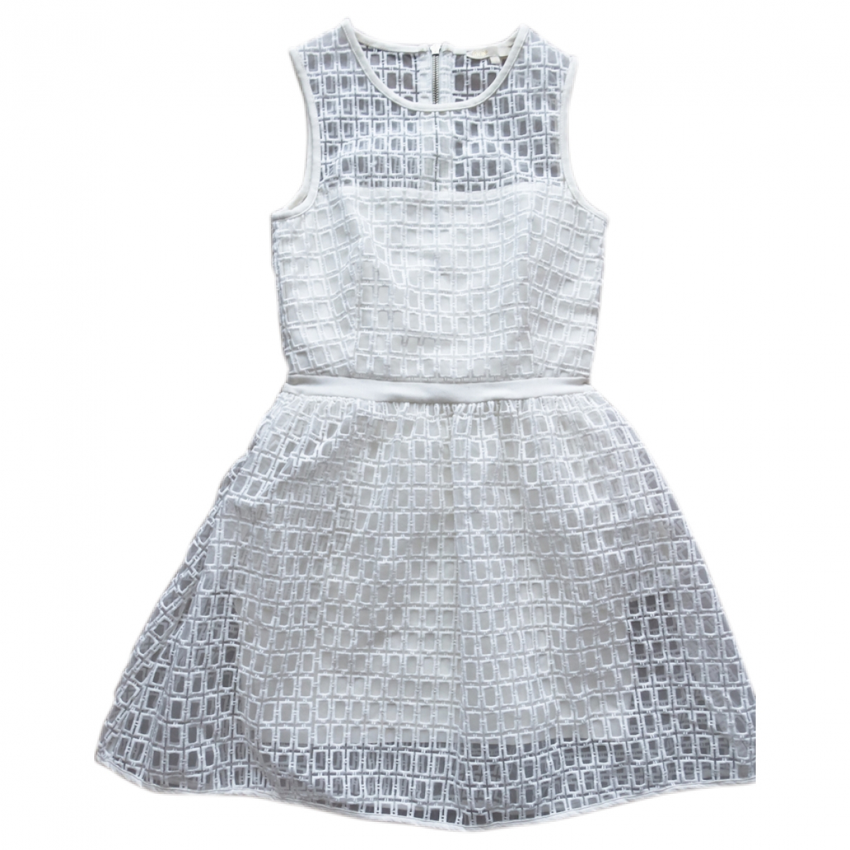 Maje \N Kleid in  Weiss Polyester