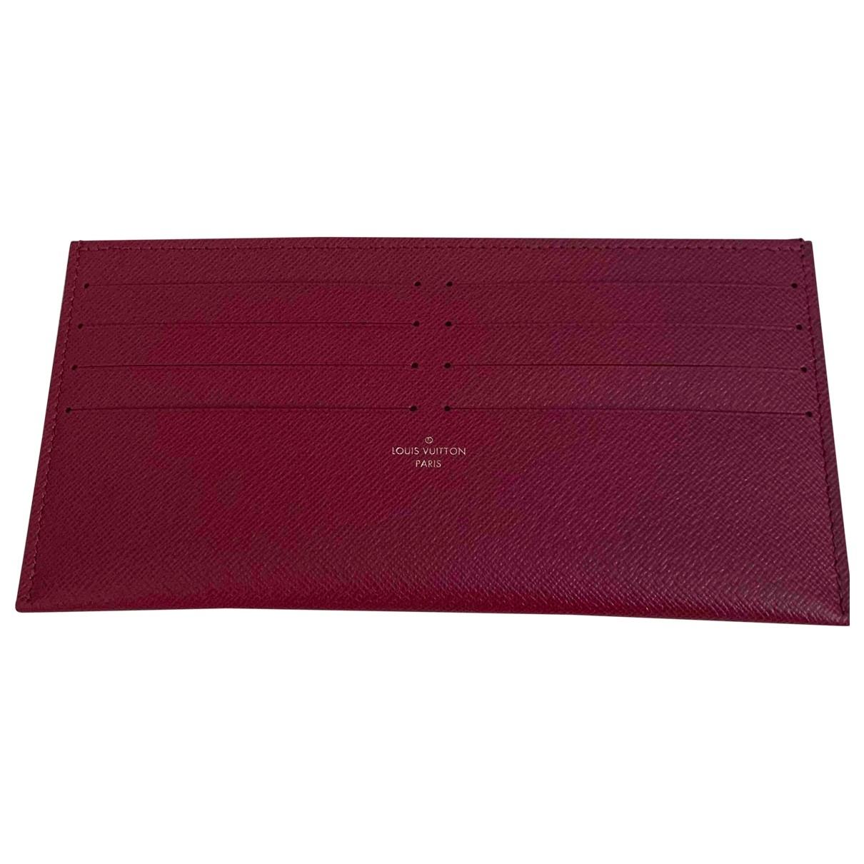 Louis Vuitton \N Burgundy Leather Purses, wallet & cases for Women \N