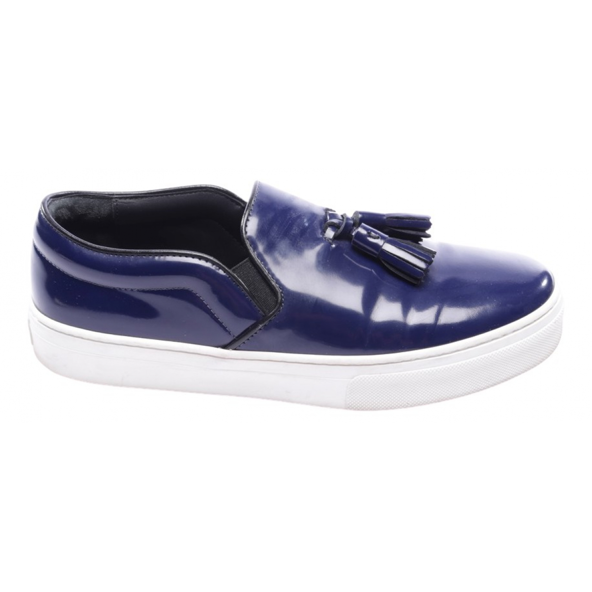 Celine \N Blue Leather Trainers for Women 38 EU