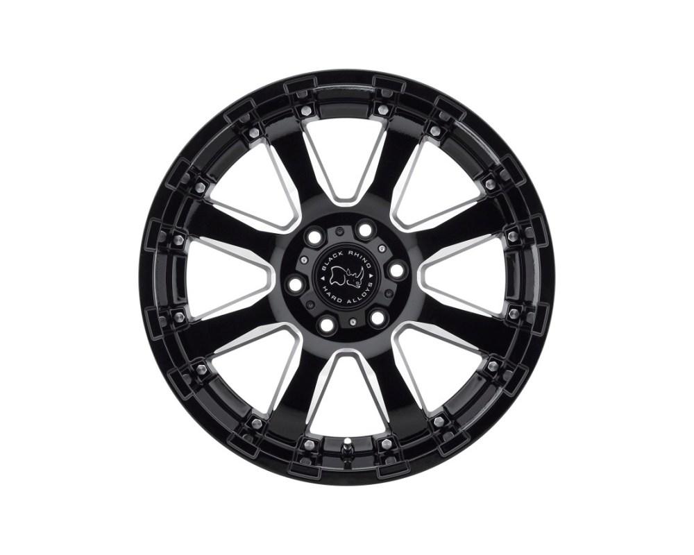 Black Rhino Sierra Gloss Black w/ Milled Spokes Wheel 20x9 6x120 12mm CB67.1