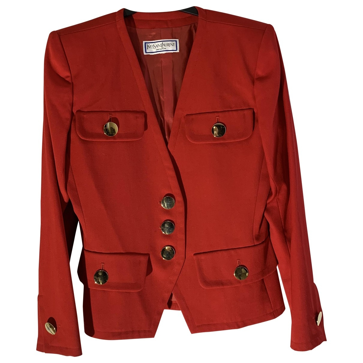 Yves Saint Laurent \N Red Wool jacket for Women 38 FR