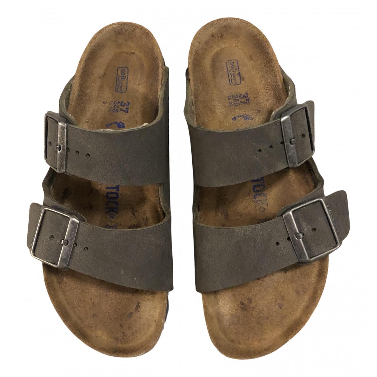 Birkenstock \N Sandalen in  Grau Leder