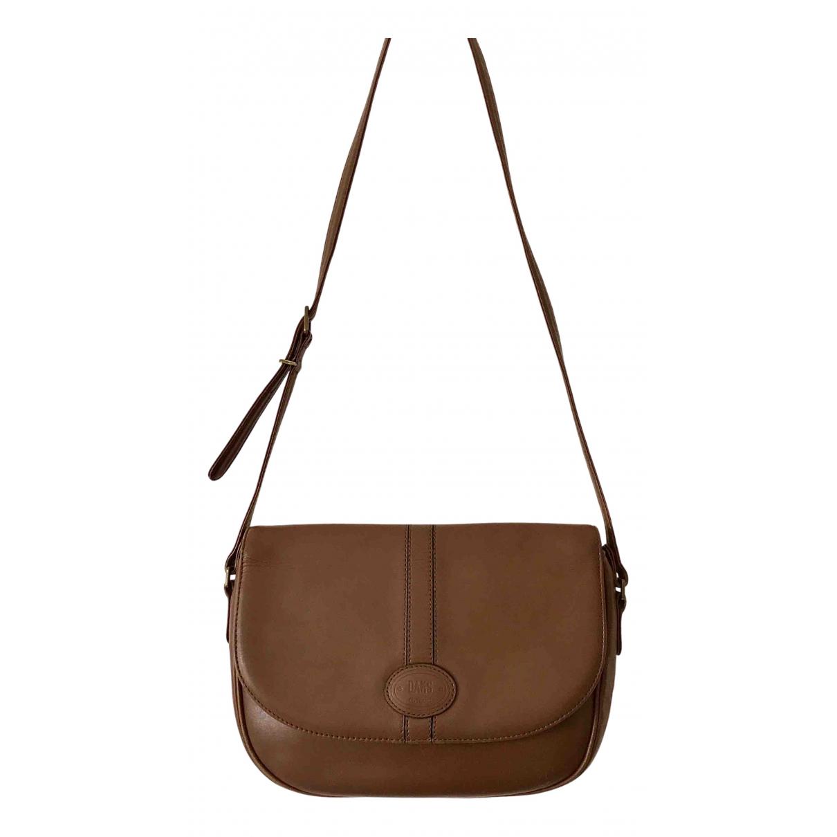 Daks N Brown Leather handbag for Women N