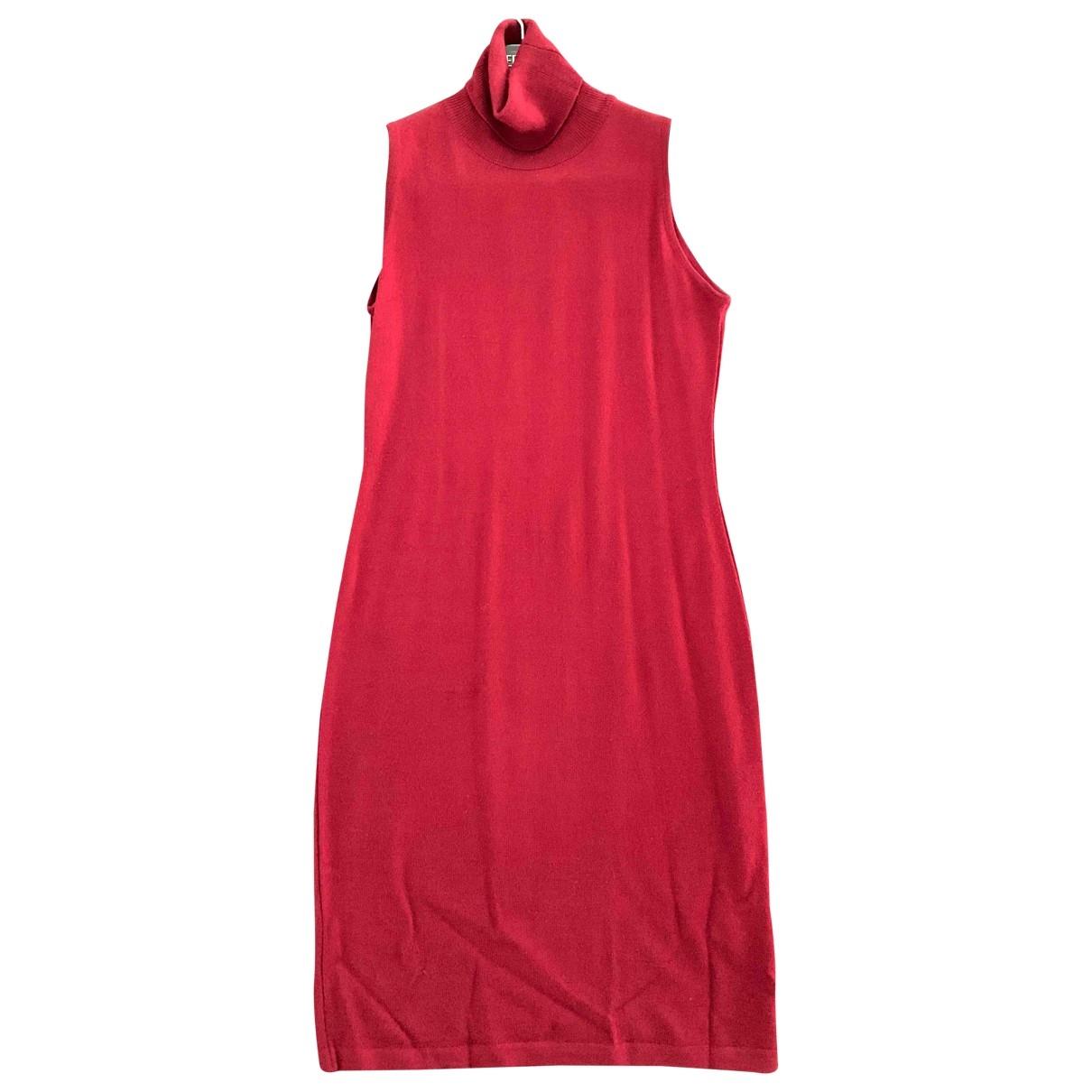 Versace Jeans \N Kleid in  Bordeauxrot Wolle