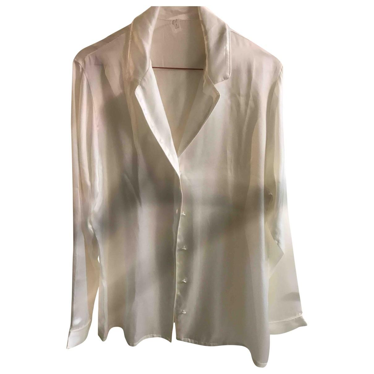 - Top   pour femme en soie - blanc