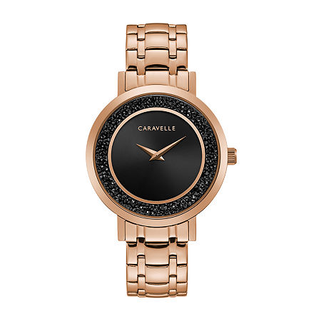 Caravelle Designed By Bulova Womens Rose Goldtone Stainless Steel Bracelet Watch-44l252, One Size , No Color Family