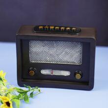 1pc Vintage Mini Radio Ornament