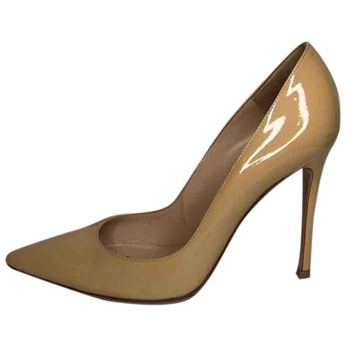 Gianvito Rossi \N Beige Patent leather Heels for Women 38.5 EU
