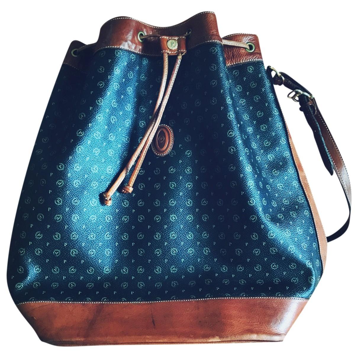 Pollini \N Handtasche in  Braun Leder