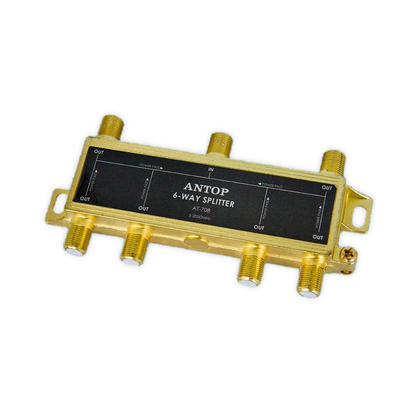 Coaxial Cable Splitter for Satellite/Cable TV Antenna, 2GHz - ANTOP® - 6 Way