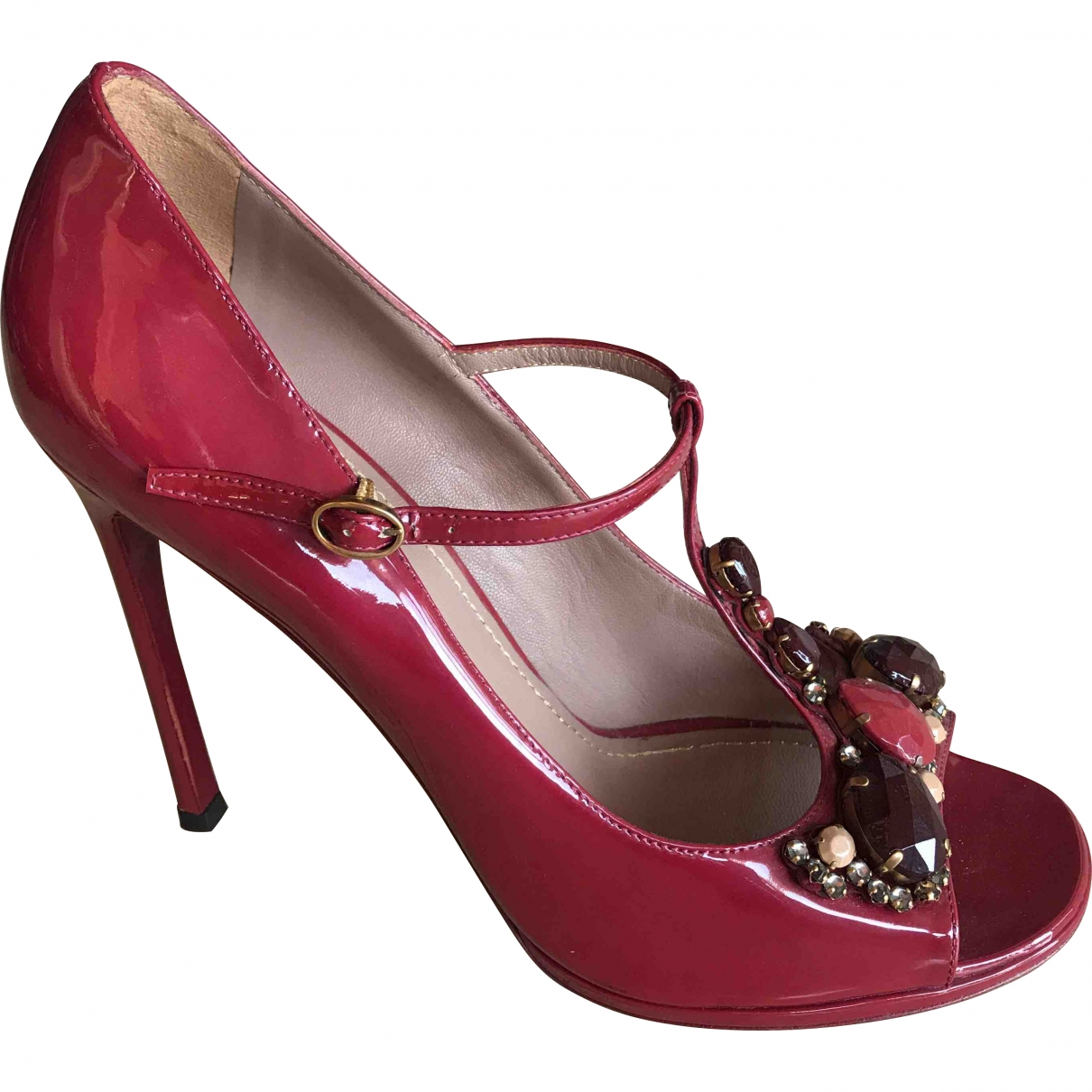 Yves Saint Laurent \N Burgundy Patent leather Heels for Women 41 EU