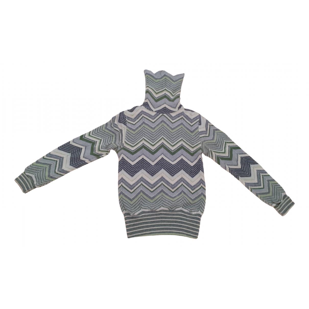 Roberto Collina - Pull   pour femme en laine - gris