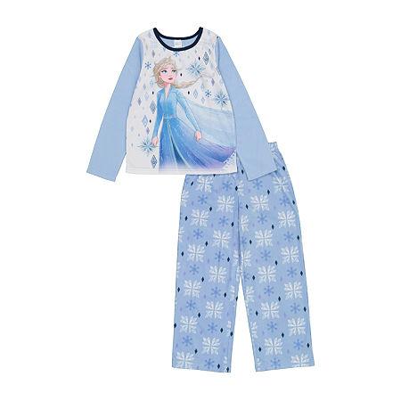 Little & Big Girls 2-pc. Frozen Pant Pajama Set, 10 , Blue