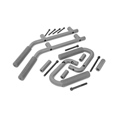 Rough Country Jeep JK Solid Steel Grab Handles (Gray) - 6503GRAY