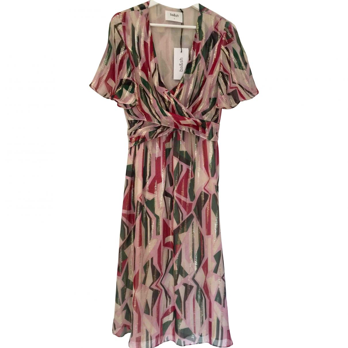Ba&sh - Robe   pour femme en soie - multicolore