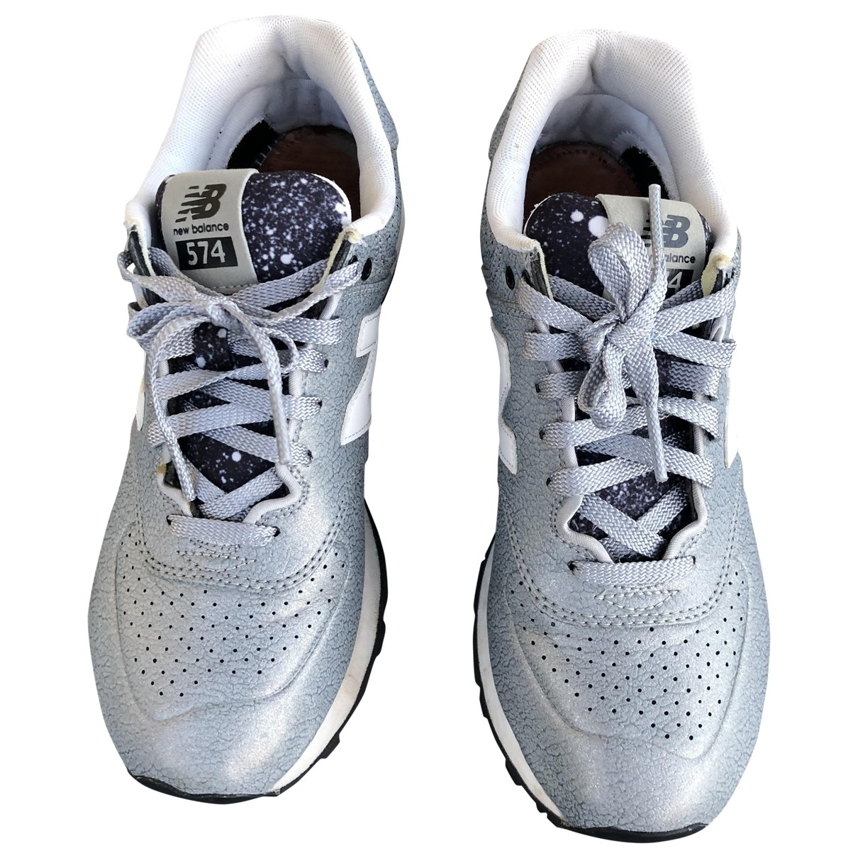 Nike \N Grey Leather Trainers for Women 38 IT