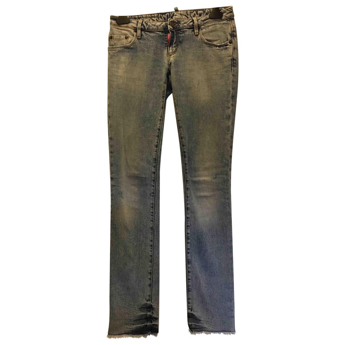 Dsquared2 \N Blue Denim - Jeans Jeans for Women 40 FR