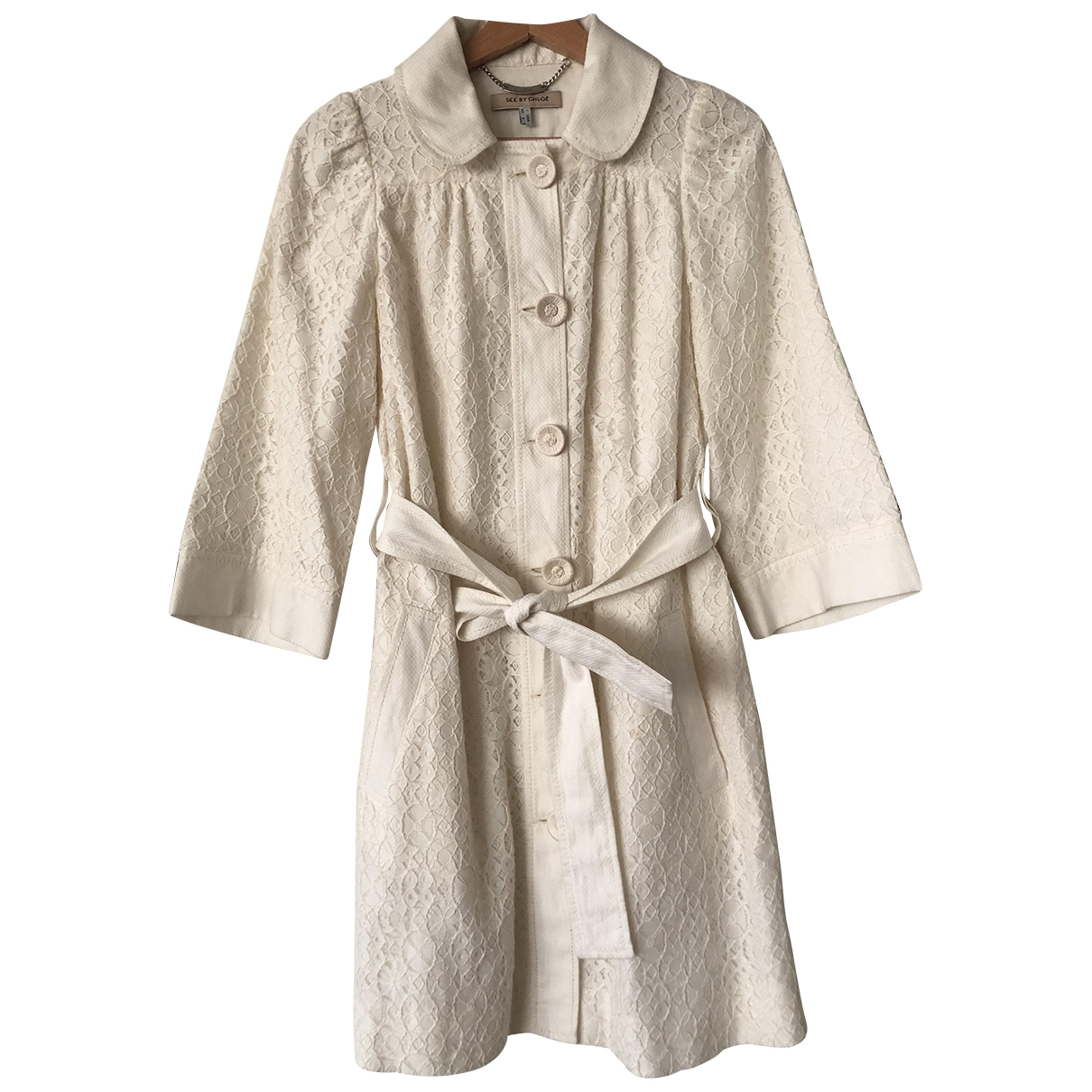 See By Chloé \N White Cotton jacket for Women 40 IT
