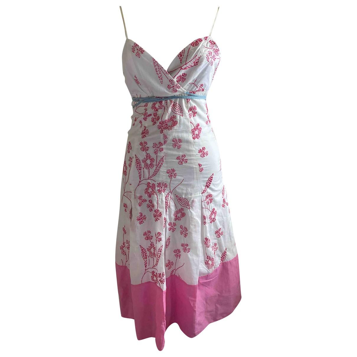 Max Azria \N Kleid in  Rosa Baumwolle