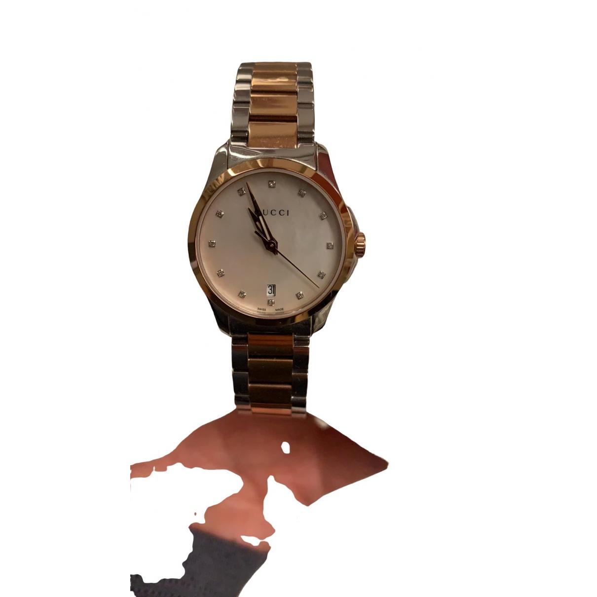 Gucci - Montre G-Timeless pour femme en acier - argente