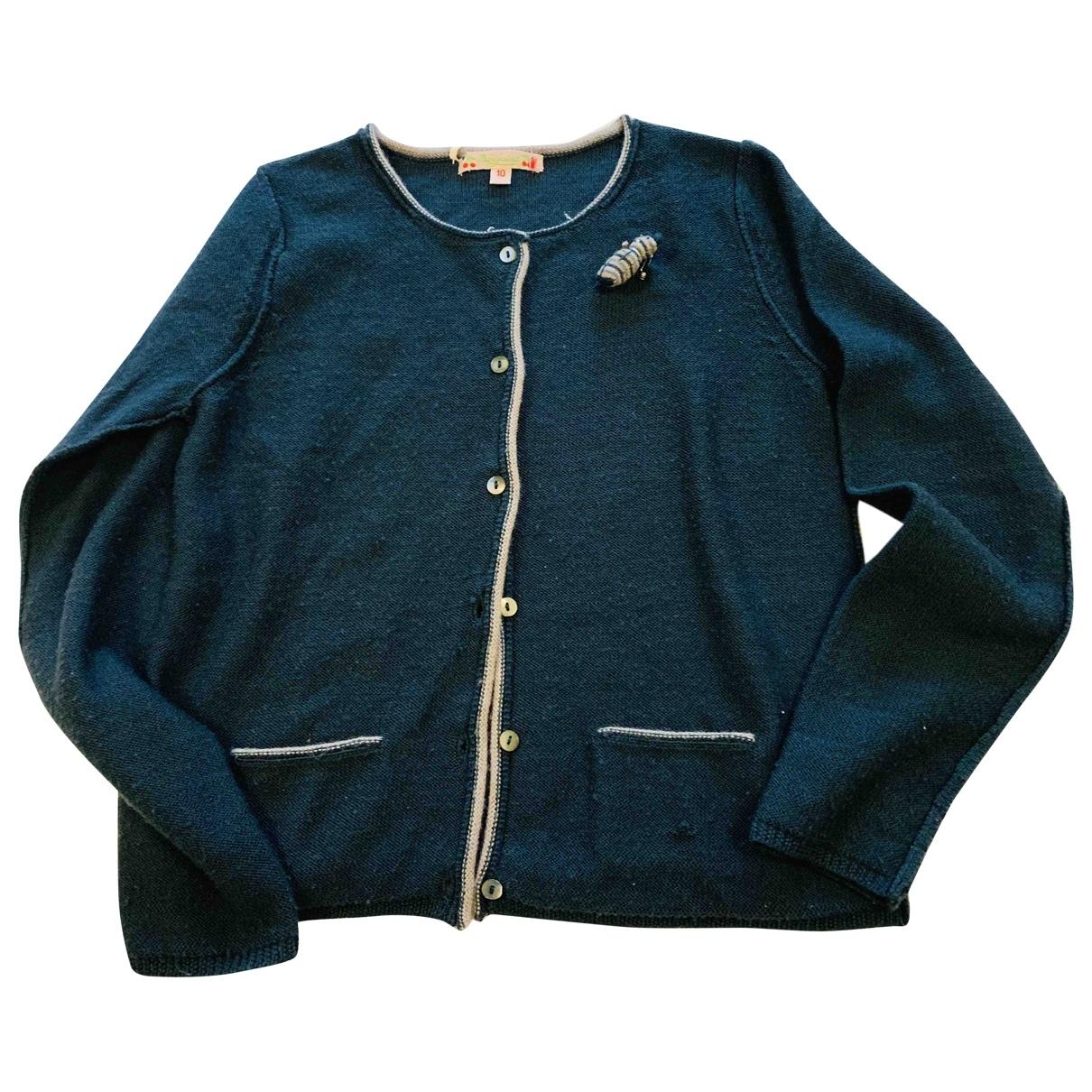 Bonpoint \N Pullover, StrickJacke in  Gruen Wolle