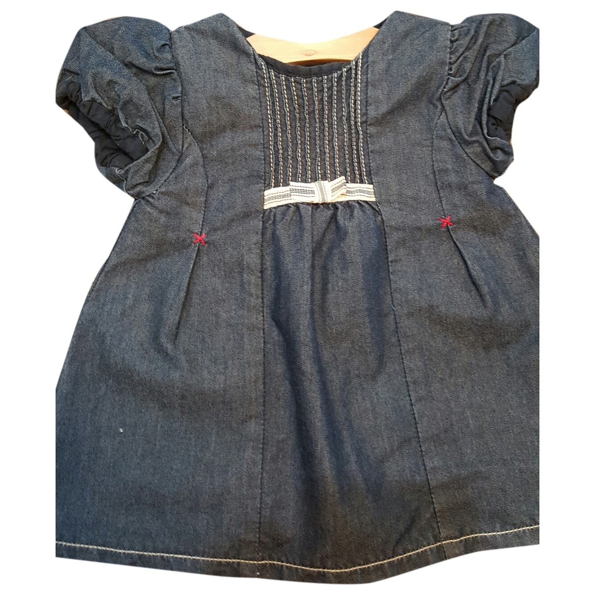 Burberry - Robe    pour enfant en denim - bleu
