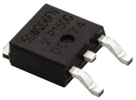 Vishay 60V 5.5A, Schottky Diode, 3-Pin DPAK VS-50WQ06FN-M3 (5)