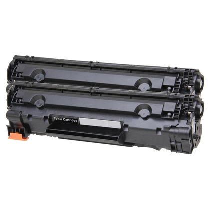 Compatible HP 36A CB436A cartouche de toner noire - boite economique - 2/paquet
