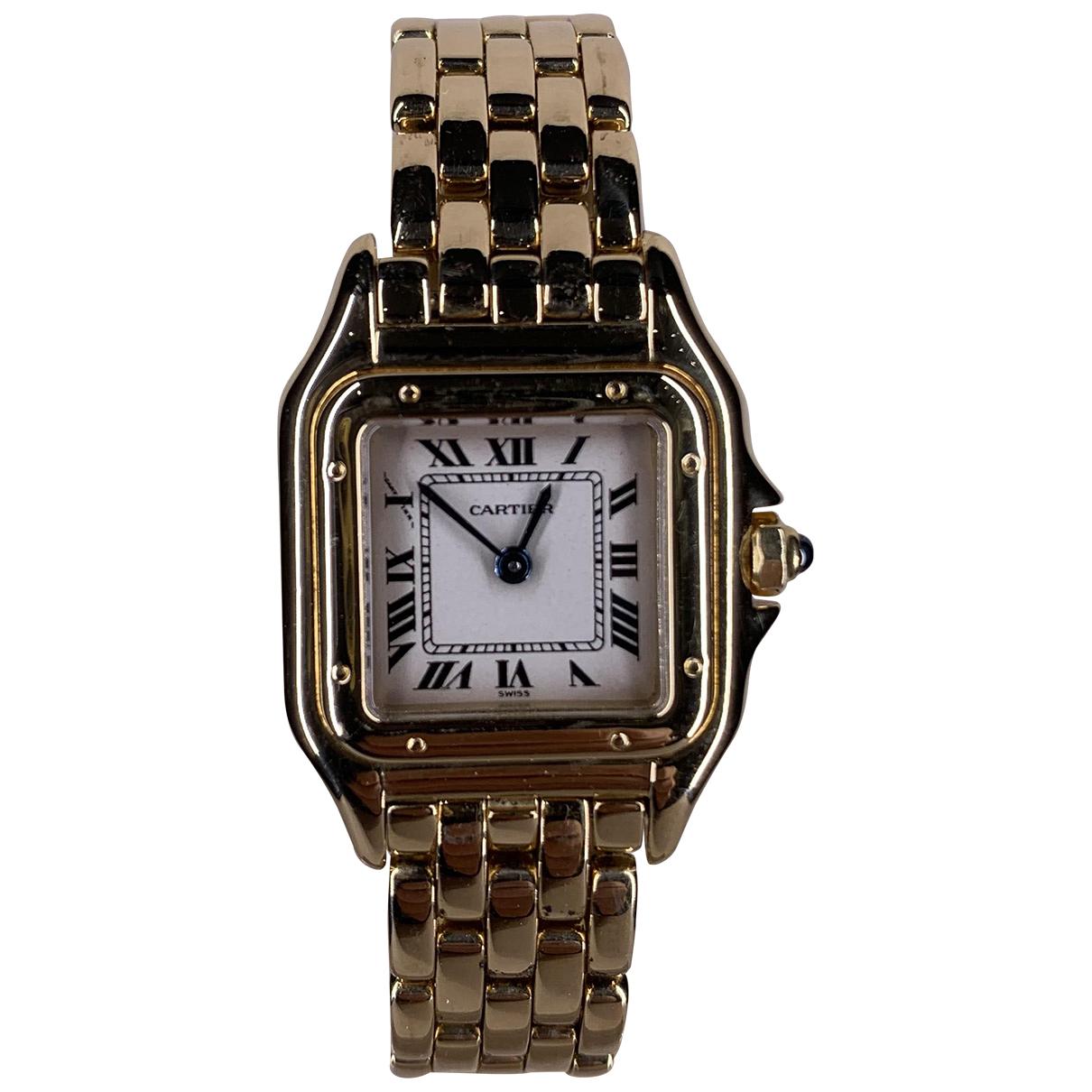Cartier Panthere Uhr in  Beige Gelbgold