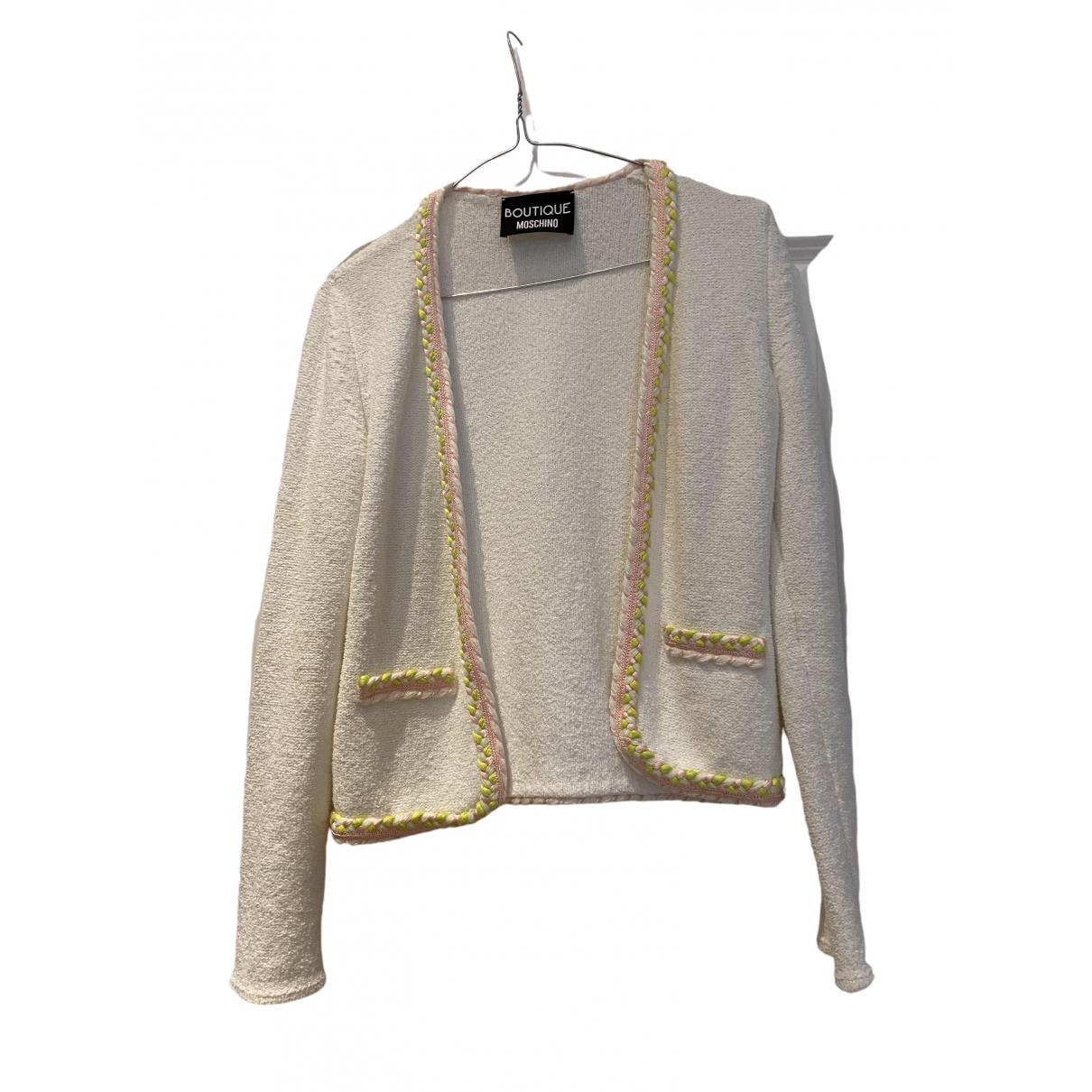 Moschino \N Pullover in  Weiss Baumwolle