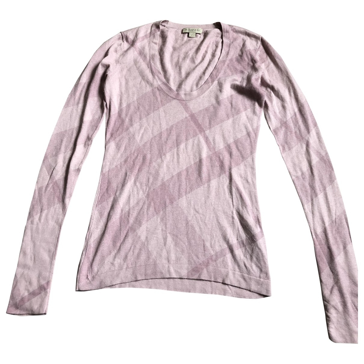 Burberry \N Pink Cotton Knitwear for Women XS International