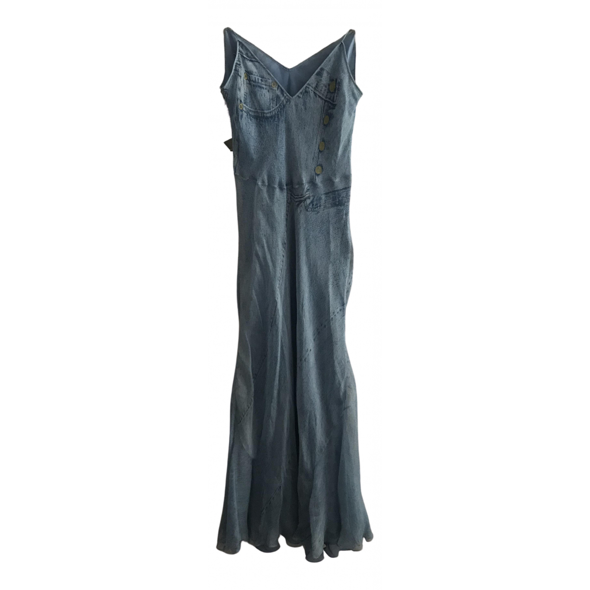 Dior \N Kleid in  Blau Seide