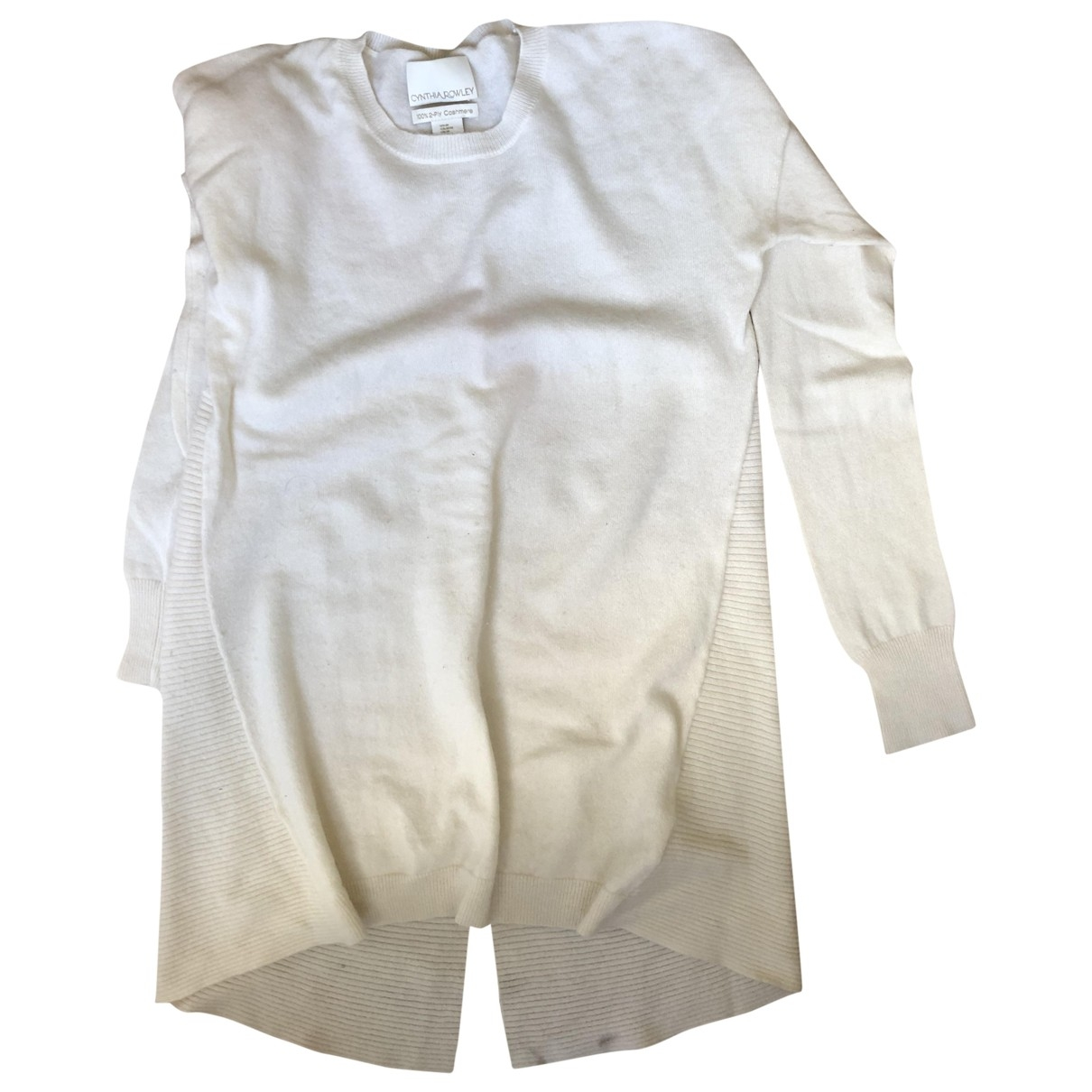 Cynthia Rowley - Pull   pour femme en cachemire - blanc