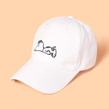 ROMWE X PEANUTS Embroidery Baseball Cap