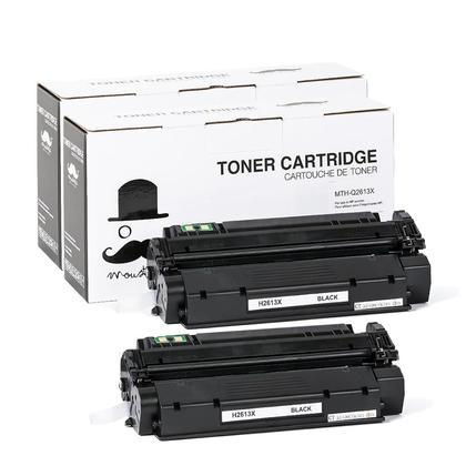 Compatible HP 13X Q2613X Black Toner Cartridge High Yield - Moustache@ - 2/Pack